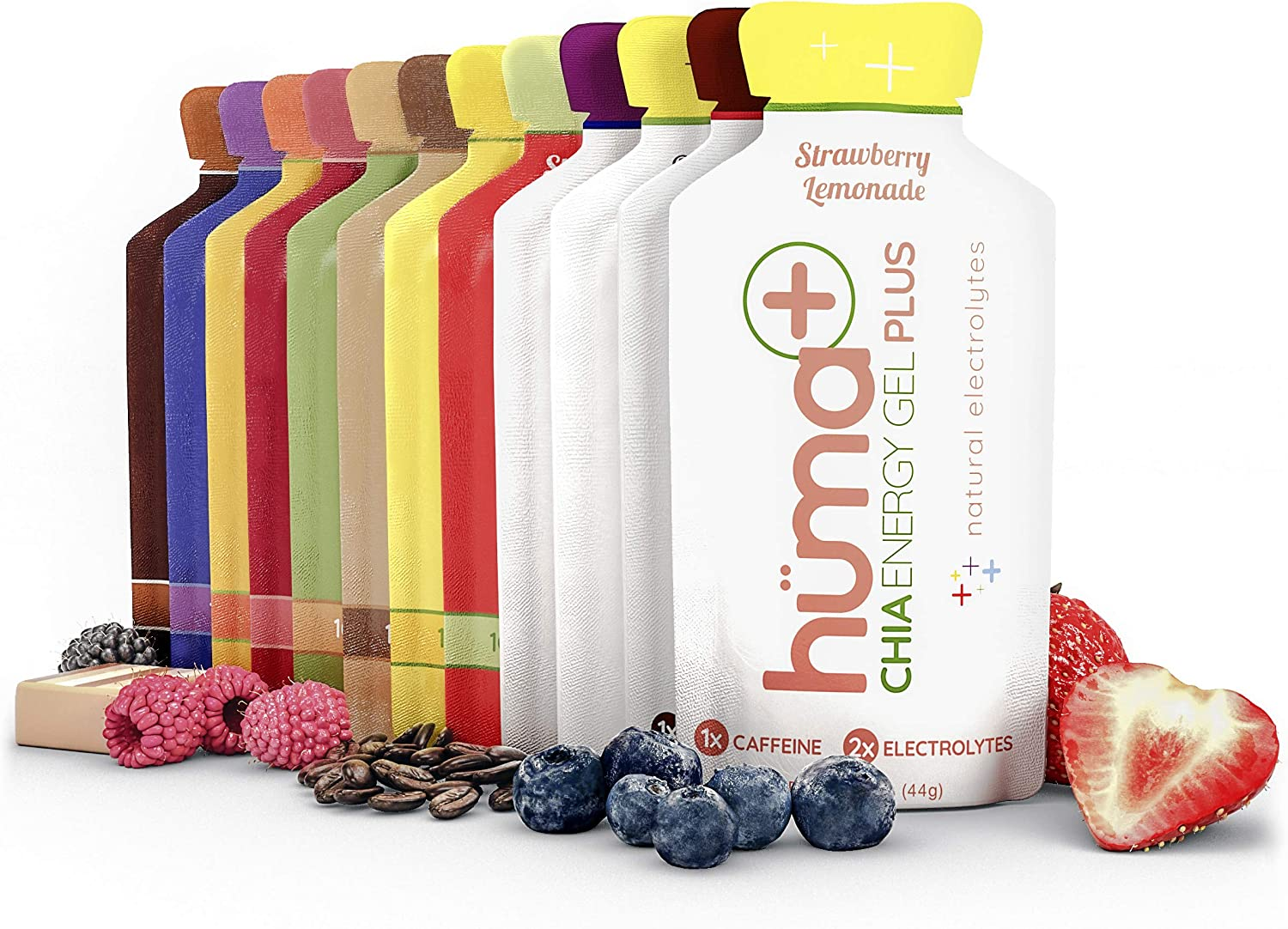Huma excellence Plus lowest price Double Electrolytes Chia - Pack Gel Variety Energy