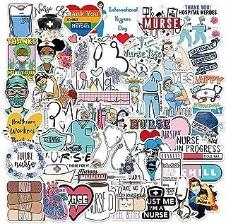 Cool Nurse Stickers for Laptop, 50pcs Pack Waterproof Vinyl Decal for Teen Water Bottle, Skateboard, Guitar, Travel Case, ...
