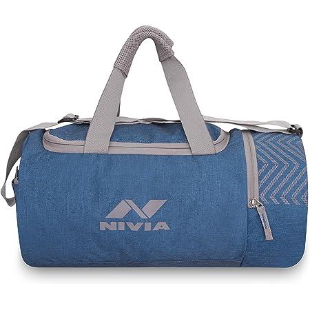 Nivia 5111SB Beast Polyester Gym Bag (Sky Blue)