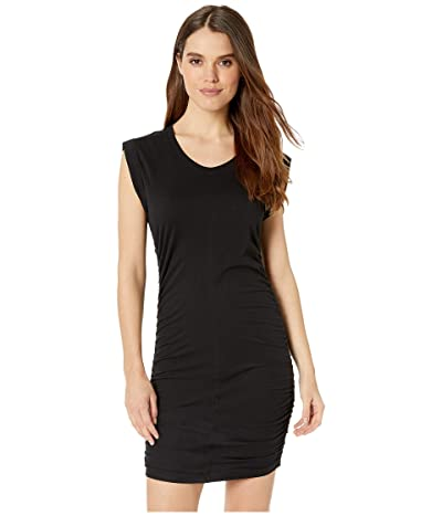 Splendid Ruched Side Dress (Black) Women