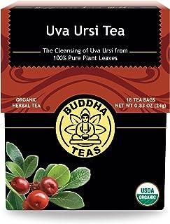 Organic Uva Ursi Tea –18 Bleach-Free Tea Bags – Organic Caffeine-Free Tea is a Great Source of Nutrients, No GMOs