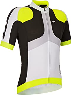 GSG Monviso - Men's Cycling T-Shirt - With Zip - Quickdry Jersey - Yellow