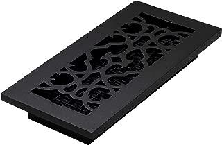 Decor Grates AC410-BLK Victorian Floor Register, 4 x 10, Cast Iron Black