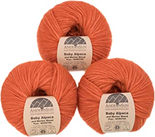 (Set of 3) Extra Soft Baby Alpaca Merino Wool Yarn Worsted #4 (150 Grams Total) - Luxuriously and Caring Soft - Alpaca Say...
