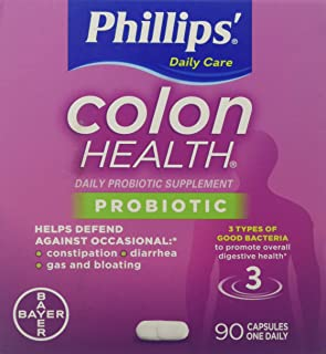 Phillips Colon Health Probiotic Supplement 90 Capsules