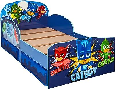HelloHome PJ masques - Lit pour enfants avec espace de rangement sous le lit