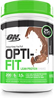 OPTIMUM NUTRITION Opti-Fit Lean Protein Shake, Meal Replacement Powder, Chocolate, 1.83 Pound