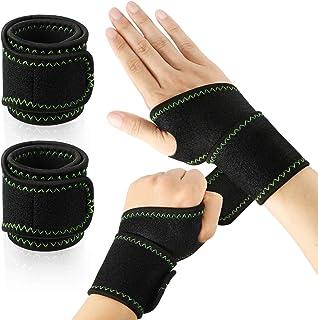 2 جفت مچ بند مچ بند ورزشی مچ دست قابل تنظیم فشرده سازی مچ بند قابل تنظیم مچ بند قابل برگشت برای زنان مچ دست محافظ ورزشی