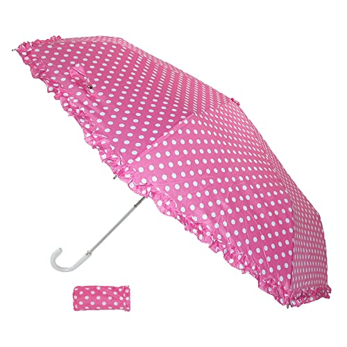 Womens Fuchsia Pink Hand Bag Size Butterfly Umbrella