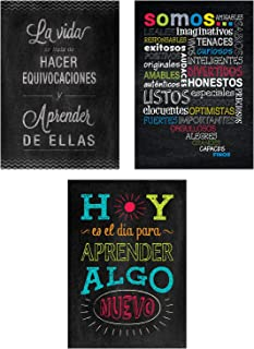 Creative Teaching Press Chalk It Up! Spanish Inspire U Poster, 3-Pack, CTP (8171)
