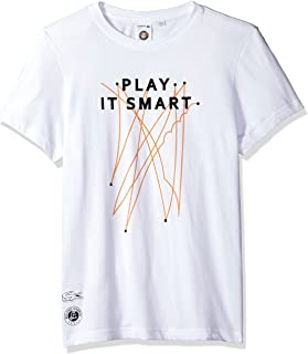 Lacoste Men's Short Sleeve Jersey Tech with Play It Smart Graphic T-Shirt, TH3352