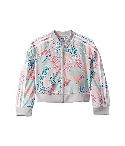 adidas Originals Kids Flower Crop Superstar Jacket (Little Kids/Big Kids) (Multicolor/White) Girl