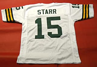 BART STARR WHITE GREEN BAY CUSTOM STITCHED NEW FOOTBALL JERSEY MEN'S XL