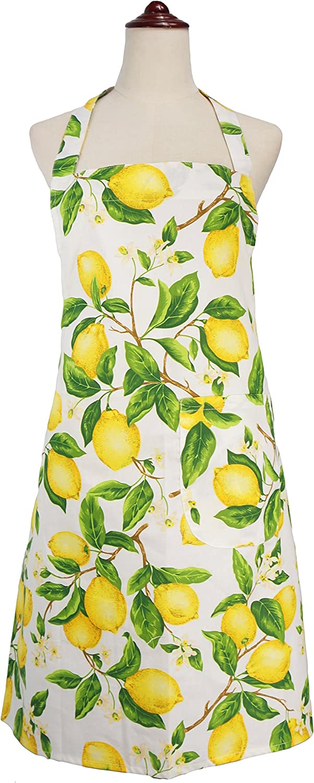 Boston Mall Fashion LilMents Lemon and Leaves Kitchen Cooking Baking Apron