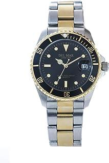 Two-Tone Men's Black Diver's Watch