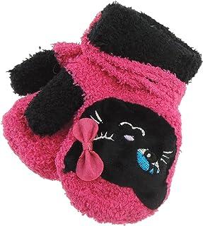 Hats By Cressida, Adorable Super suave bebé niñas niños cálido invierno manoplas 1-2 años rosa negro gato