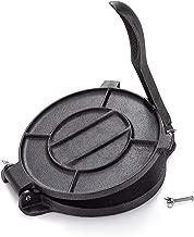 Bonusall Iron Tortilla Press Maker, Non-Stick Cooking Plates Flatbread Corn Cast Iron Press Maker -easy to use in Kitchen, Camping
