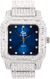 Bling-ed Out Biggie Square Iced Gold Hip Hop Watch You Will Hypnotize in a Flashy Way - 0513Sq