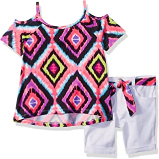 Limited Too - Conjunto de Playera y pantalón Corto para niña