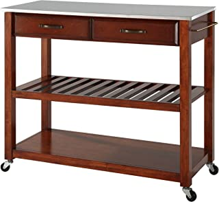 Best cherry kitchen cart with stainless steel top Reviews