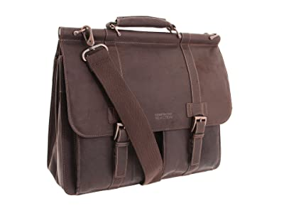 Kenneth Cole Reaction Colombian Leather Dowel Rod/Portfolio Computer Case (Dark Brown) Briefcase Bags