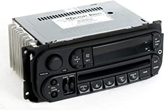 1 Factory Radio AM FM CD Player w Aux Input Compatible With 2002-2005 Dodge Neon RBK Slider P05064354