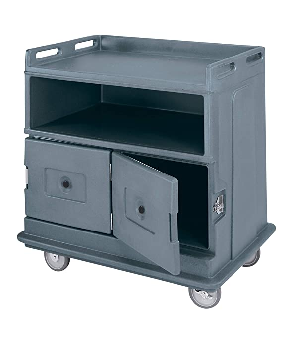 Cambro MDC24F191 Beverage Service Cart with Flat Top Counter Granite Gray Case of 1