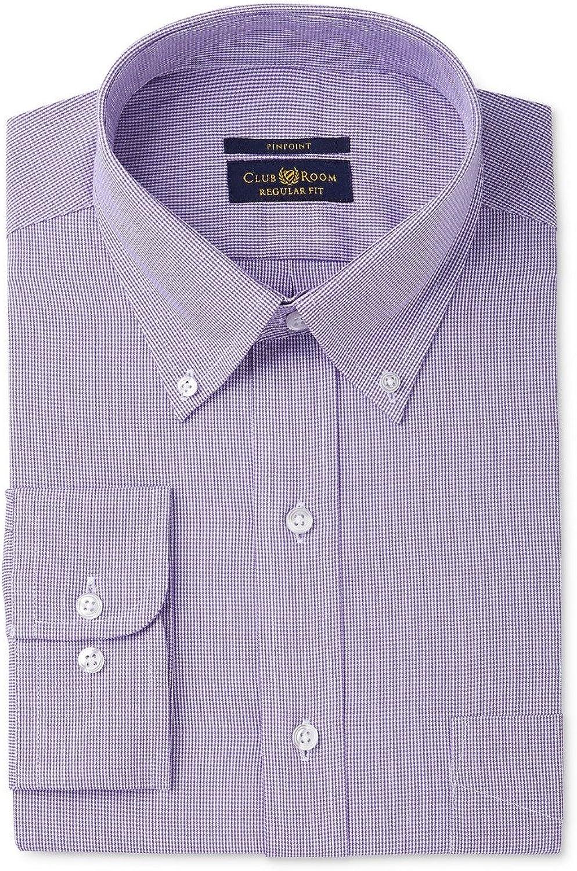 - - - Club Room Mens Wrinkle Resistant Button Up Dress Shirt b0dae6