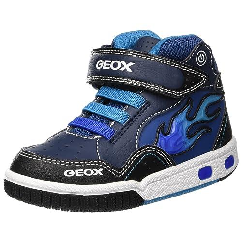 6cc6b23fa8845 Geox Jr Gregg C C, Baskets Hautes garçon