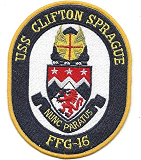 USS Clifton Sprague FFG-16 Guided Missile Frigate Ship Patch
