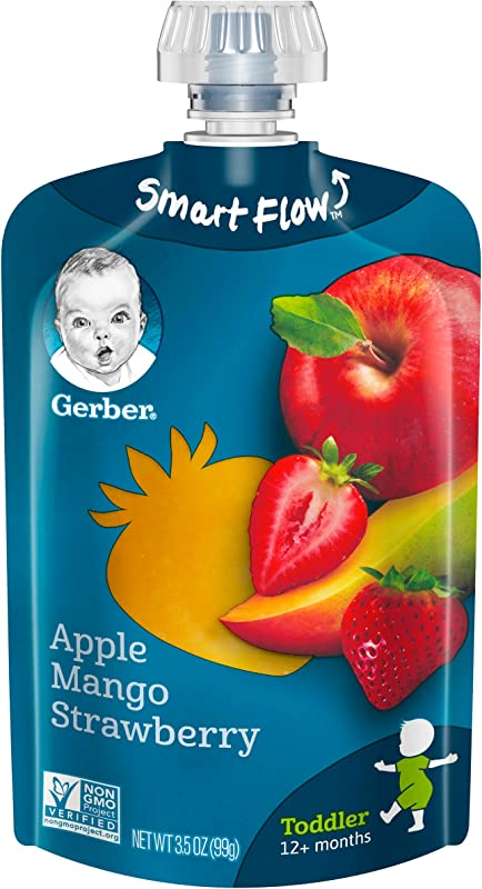 Gerber Purees Apple Mango Strawberry Toddler Pouch Pack Of 12
