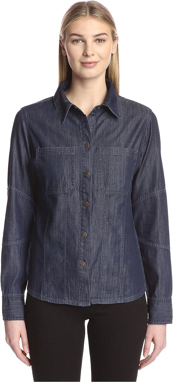 DL1961 Women's Jenny Fitted Denim Shirt