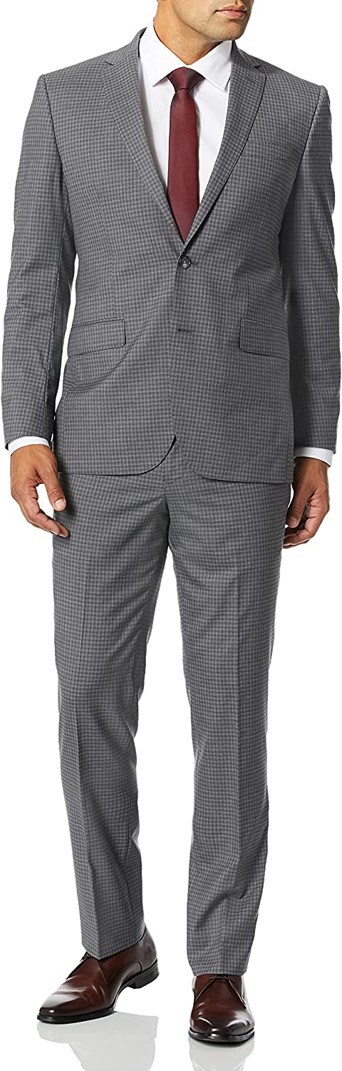 Kenneth Cole New York Men's Slim Fit Stretch Wool Suit