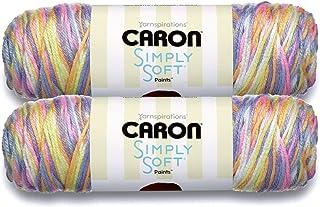 Caron Simply Soft Bulk Buy Paints 100% Acrylic Yarn (2-Pack) ~ 5 oz. Skeins (Baby Brights)