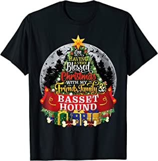 Basset Hound Festive Christmas Spruce Fir Tree Paws Gift T-Shirt