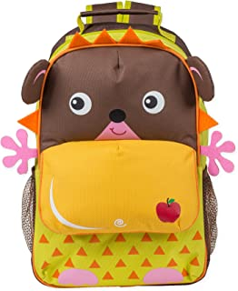 Hedgehog Character with Apple Dimensional Animal Shape Water Resistant Preschool Backpack