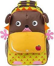 Hedgehog Character with Apple Dimensional Animal Shape Water Resistant Preschool Backpack