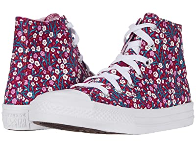 Converse Kids Chuck Taylor(r) All Star(r) Floral (Little Kid/Big Kid) (Rose Maroon/Cherry Blossom) Girl