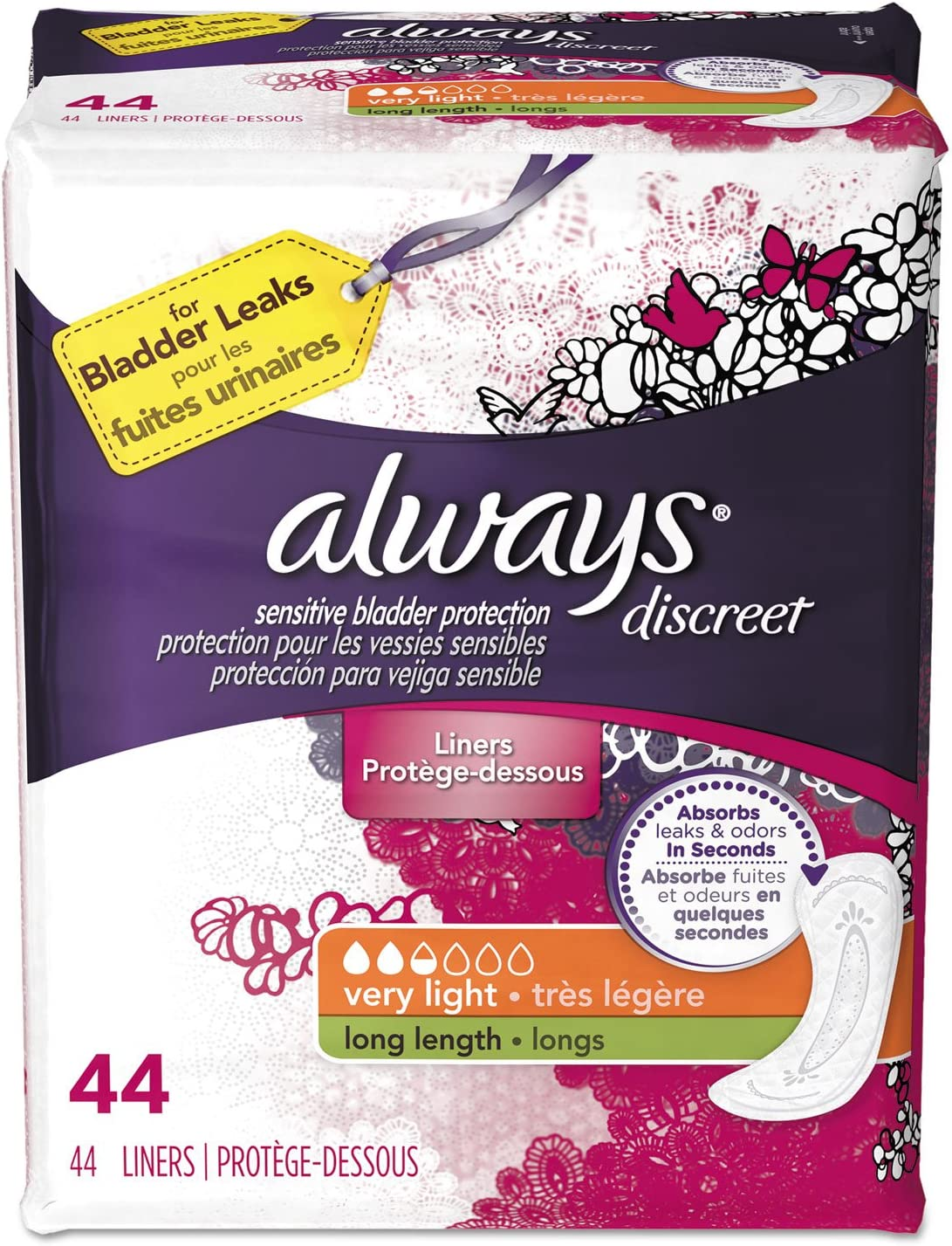 Discreet Sensitive Bladder Max 52% OFF Protection Liners Very Long Max 62% OFF Light 4