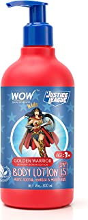 WOW Skin Science Kids Body Lotion - SPF 15 - Golden Warrior Wonder Woman Edition - No Parabens, Color, Mineral Oil, Silico...