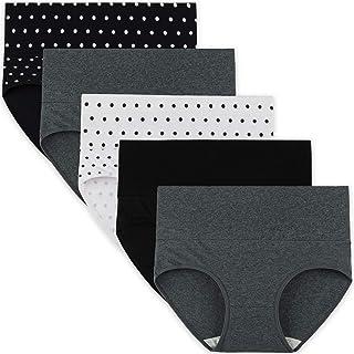 INNERSY Mutande Donna Cotone Vita Alta Slip Post Parto Contenitivo Intimo Taglie Forti Multipack 5