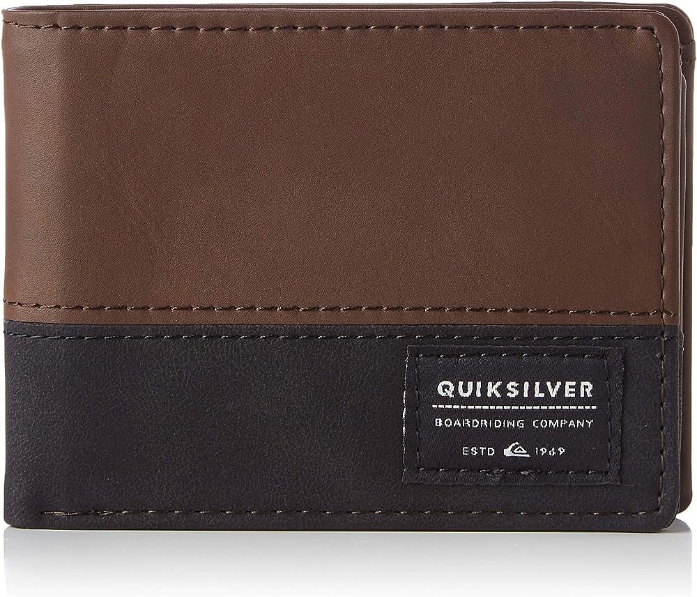 Quiksilver nativecountry, porta carte di credito, portafoglio per uomo, in ecopelle EQYAA03905A