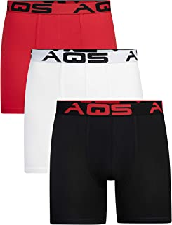 aqs Men's Boxer Briefs - 3 Packs