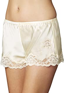 Women's 100% Silk Tap Pant, Lace Trim, Flattering Fit, Indulgence, Lingerie, Sleepwear, Beautiful Gift Packaging