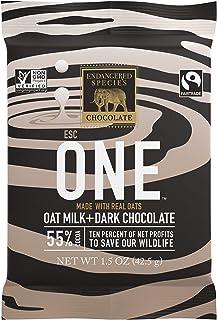 Endangered Species Chocolate Zebra, Natural Oat Milk + Dark Chocolate (55%), 1.5 Ounce Bars, (Pack of 12)