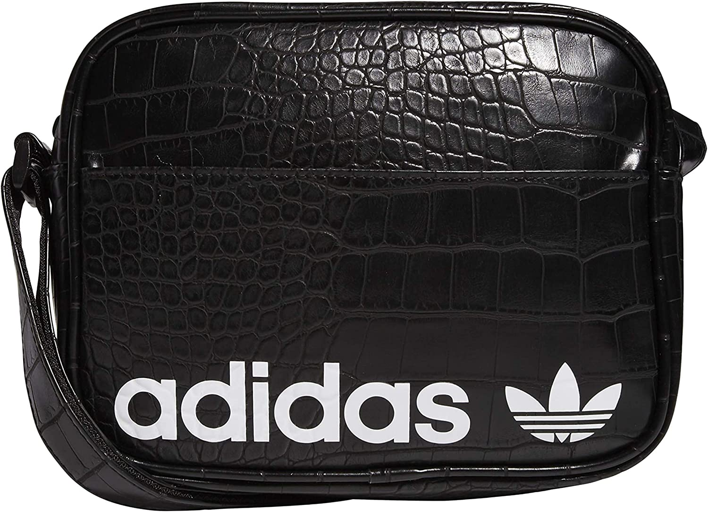 adidas Airliner Shoulder Bag, Black Croc/White