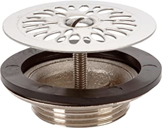 Nicoll 0501026L2262 Stainless Steel Brass Sink Waste Grate Strainer, Diameter 55mm