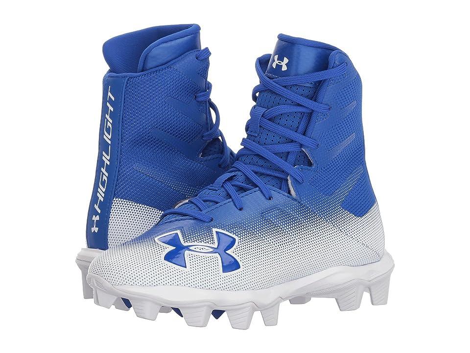 Under Armour Kids UA Highlight RM LE Football (Little Kid/Big Kid) (Team Royal/White) Boys Shoes