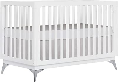 Sweetpea Baby Ultra Modern 4 in 1 Convertible Crib in White