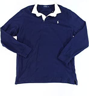 Polo Ralph Lauren Mens Shirt Blue US Size 2XL Long Sleeve Polo Rugby